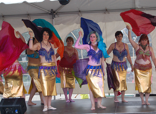 photo of bellydancers